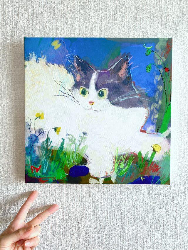 2.Curious cat_panel finish image